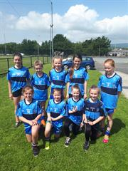Steelstown Cup for Hollybush Girls Gaelic Team