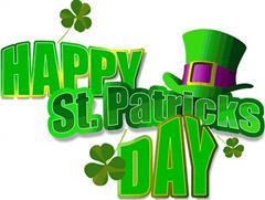 School Closed Monday 18th March for St Patrick