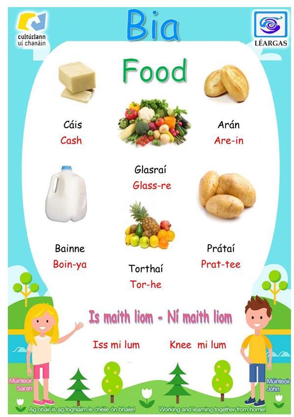 Irish Lesson Part 5 Food-Bia