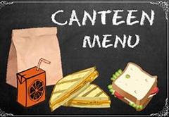 Canteen Menu September 2021
