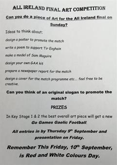 All Ireland 2021 Art Competition and Red and White Day