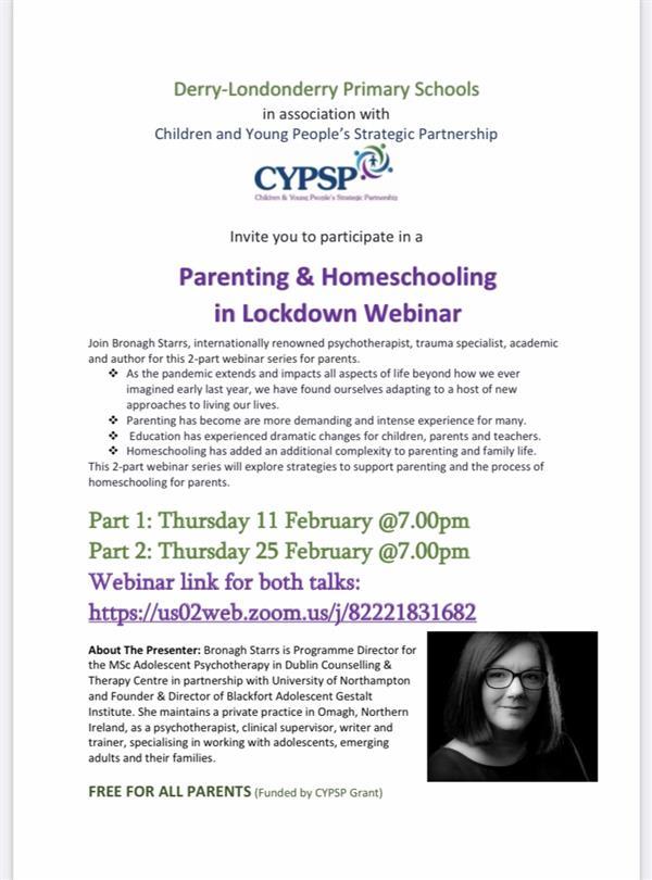 Parenting & Homeschooling in Lockdown Webinar