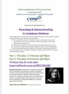 Parenting & Homeschooling in Lockdown Webinar