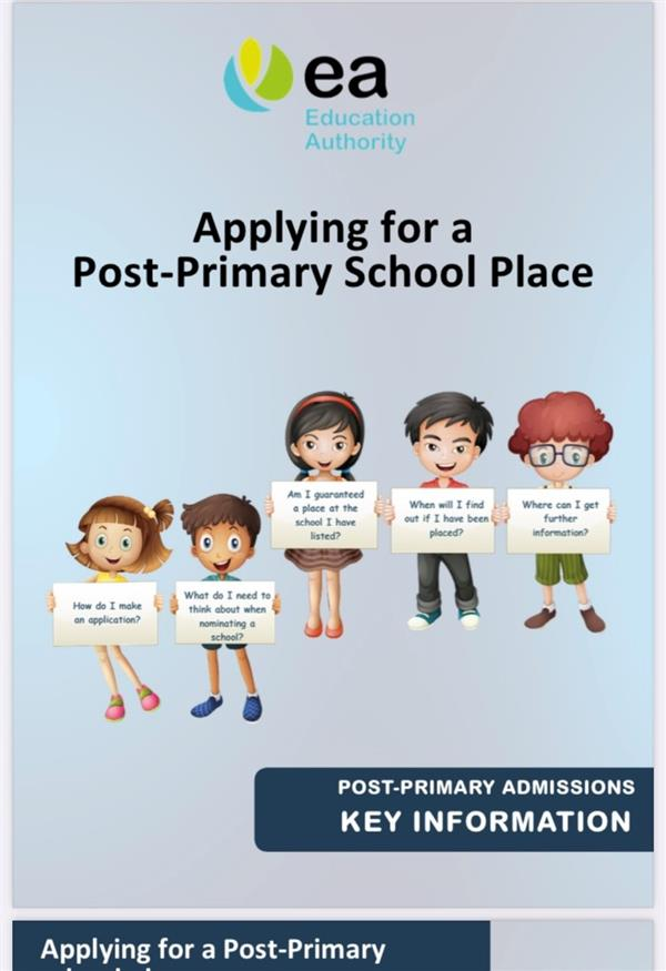 Post Primary Admissions 2021 Key Information